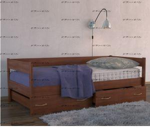 Кровать Тахта Массив с 2 ящиками DreamLine (любые размеры)