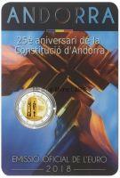 Андорра 2 евро 2018, 25 лет Конституции Андорры