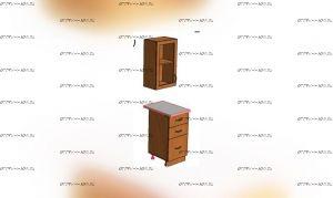 Секция шкаф + стол 3 ящика (0,5 м) ЛДСП