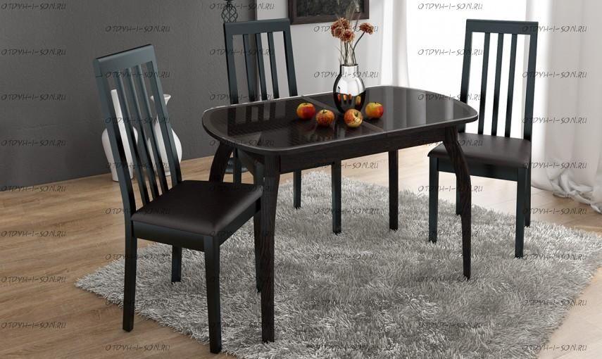 Обеденная группа: стол Ницца СМ-217.01.15 + стулья Гамма Т1
