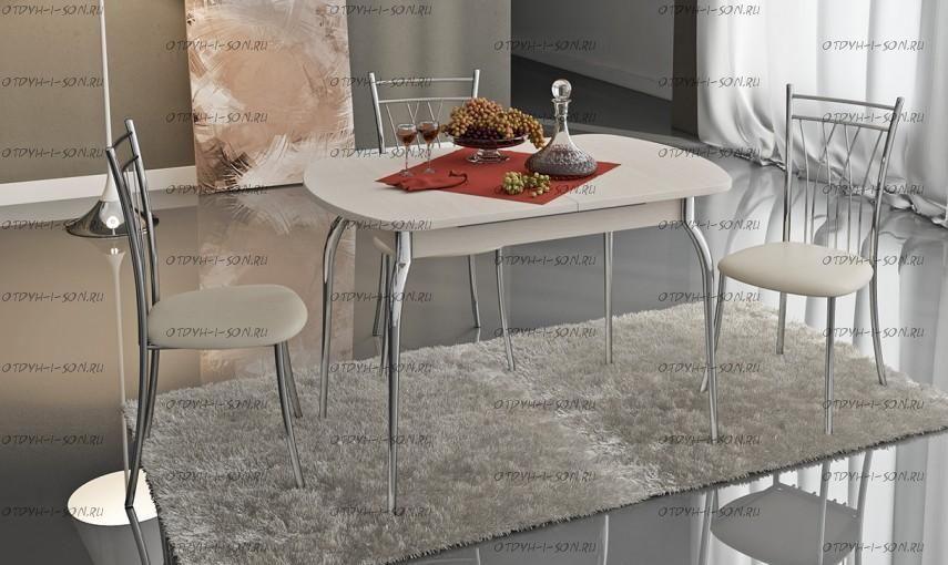 Обеденная группа: стол Милан СМ-203.21.01 + стулья Премьер беж