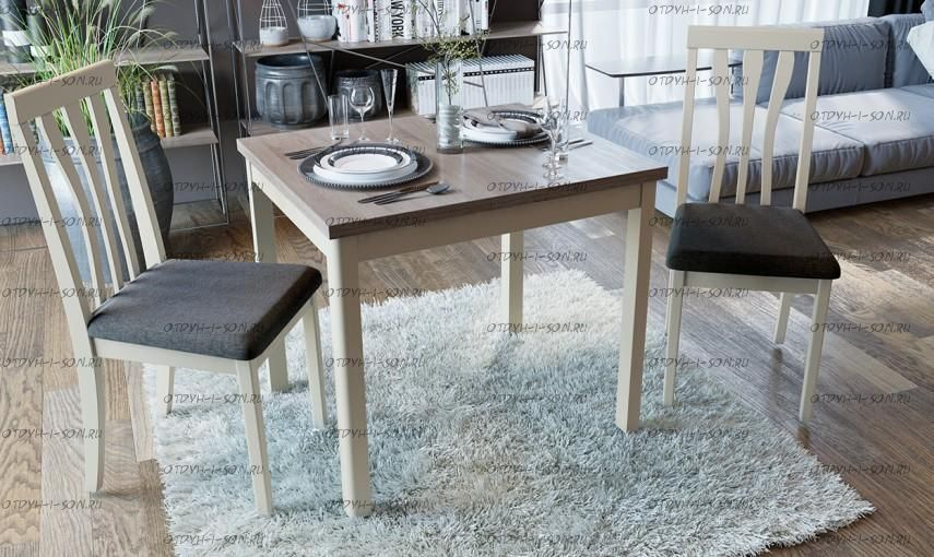 Обеденная группа: стол Мельбурн СМ (Б)-100.05.11(1) + стулья Пегас