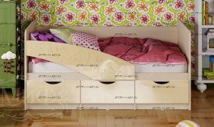 Кровать детская Бабочки (80х200) (Кровать Дельфин)