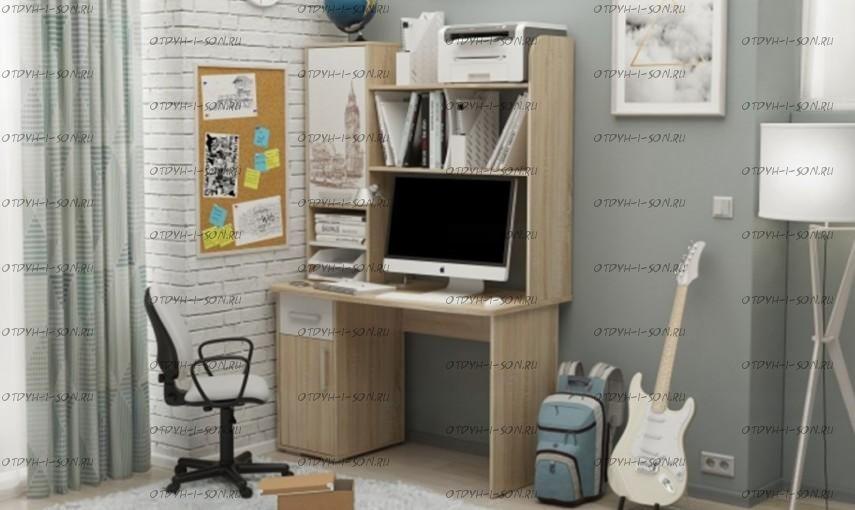 Компьютерный стол с надстройкой Лайт-1