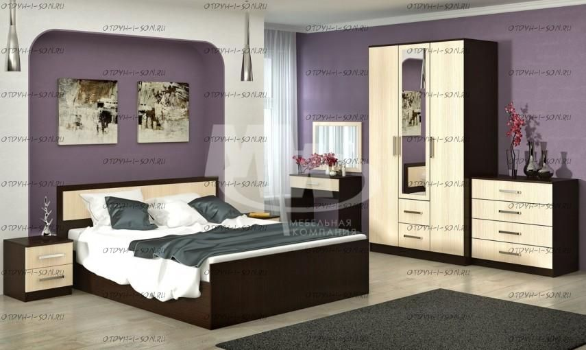 Спальня Фиеста (Модульная композиция 1)