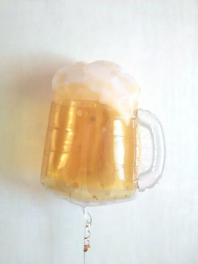 Кружка пива шар фольгированный с гелием