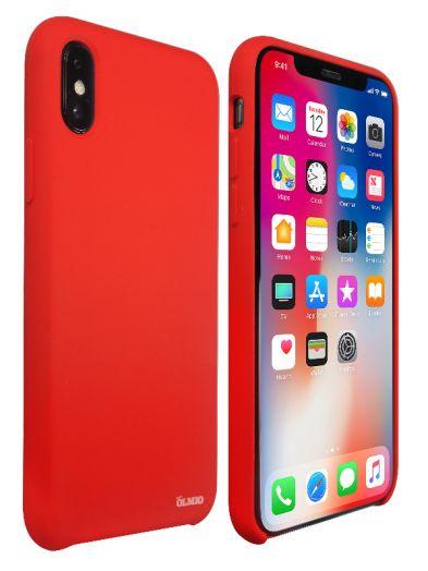 Чехол Velvet для iPhone X (красный) Olmio