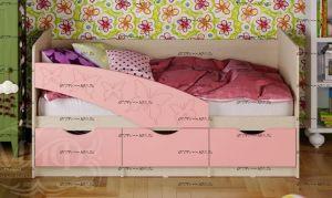 Кровать детская Бабочки (80х160) (Кровать Дельфин)