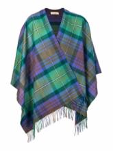 Теплое пончо  100 % стопроцентная шотландская овечья шерсть,  100 % стопроцентная шотландская овечья шерсть, расцветка (тартан) Isle of Skye - Айл оф Скай, плотность 6