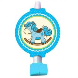 Дудочки-язычки с лошадкой для мальчика