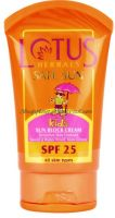 Детский солнцезащитный крем SPF25 Лотус Хербалс | Lotus Herbals Safe Sun Kids Sun Block Cream SPF 25
