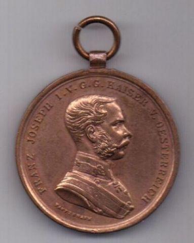 Медаль 1859 - 1915 г. AUNC За храбрость. Австрия. Венгрия.