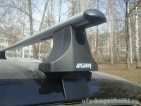 Багажник на крышу Volkswagen Polo, Атлант, аэродинамические дуги