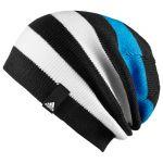 Женская шапка adidas Striped Beanie чёрная
