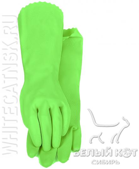 Защитные виниловые перчатки Блеск салатовые размер M