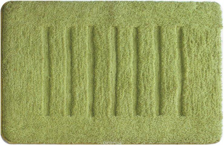 Коврик для ванной комнаты 50 х 80 см зелёный