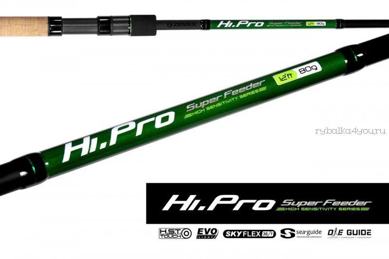 Купить Удилище фидерное Zemex Hi-Pro Super Feeder 13 ft / тест до 90гр