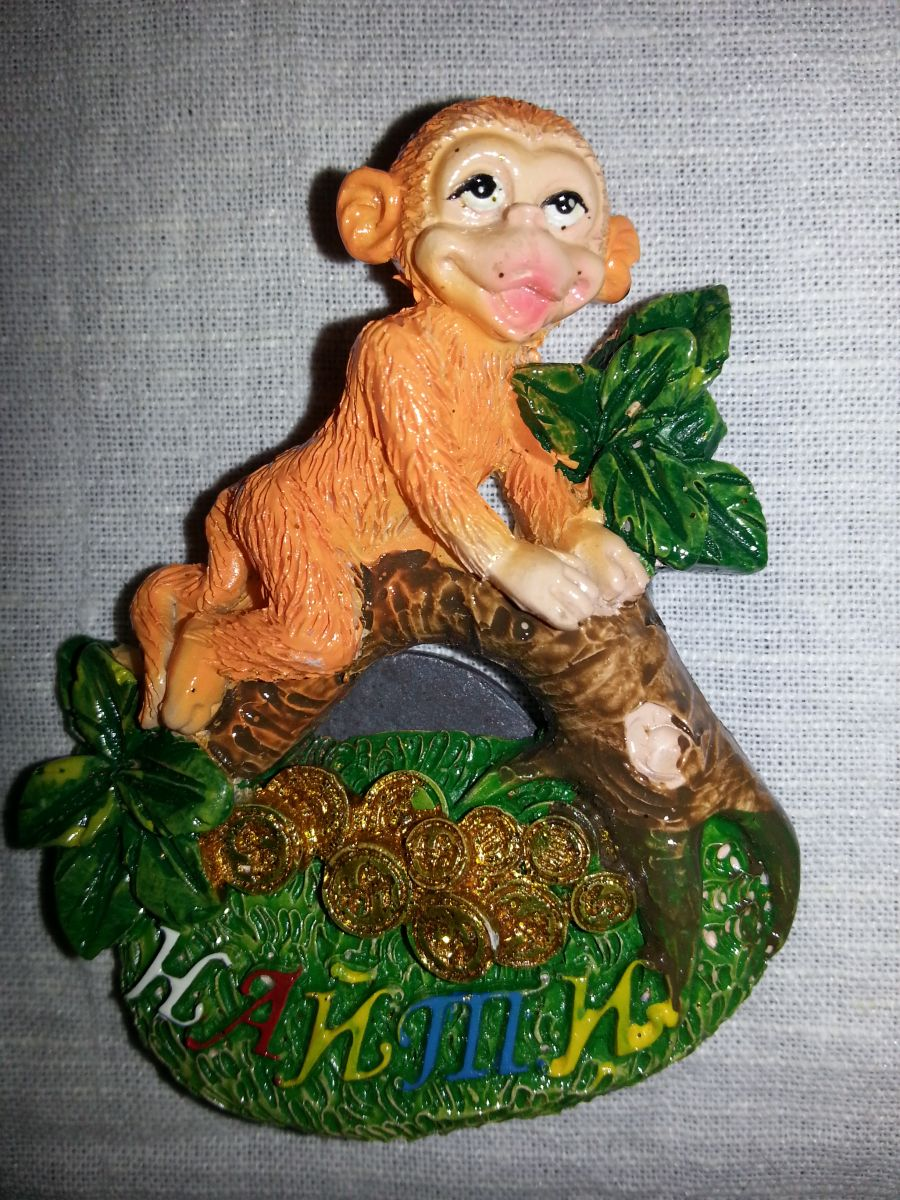 Магнит на холодильник обезьянка 005-1
