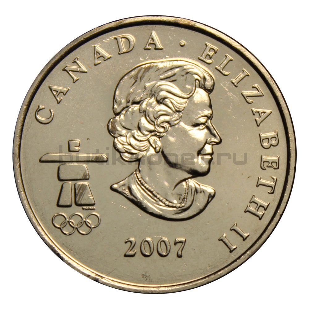 25 центов 2007 Канада Биатлон (Олимпийские игры в Ванкувере)