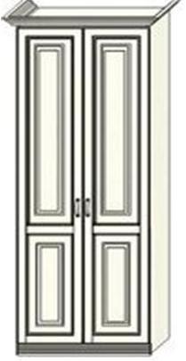 Шкаф двухдверный  Ферсия, для платья (модуль 23)