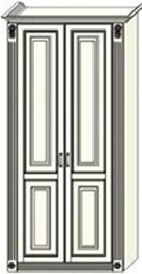 Шкаф двухдверный  Ферсия с двумя пилястрами, для платья (модуль 24)