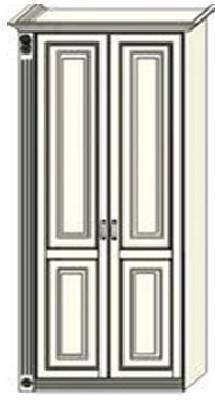Шкаф двухдверный  Ферсия с одной пилястрой слева, для платья и белья (модуль 26)