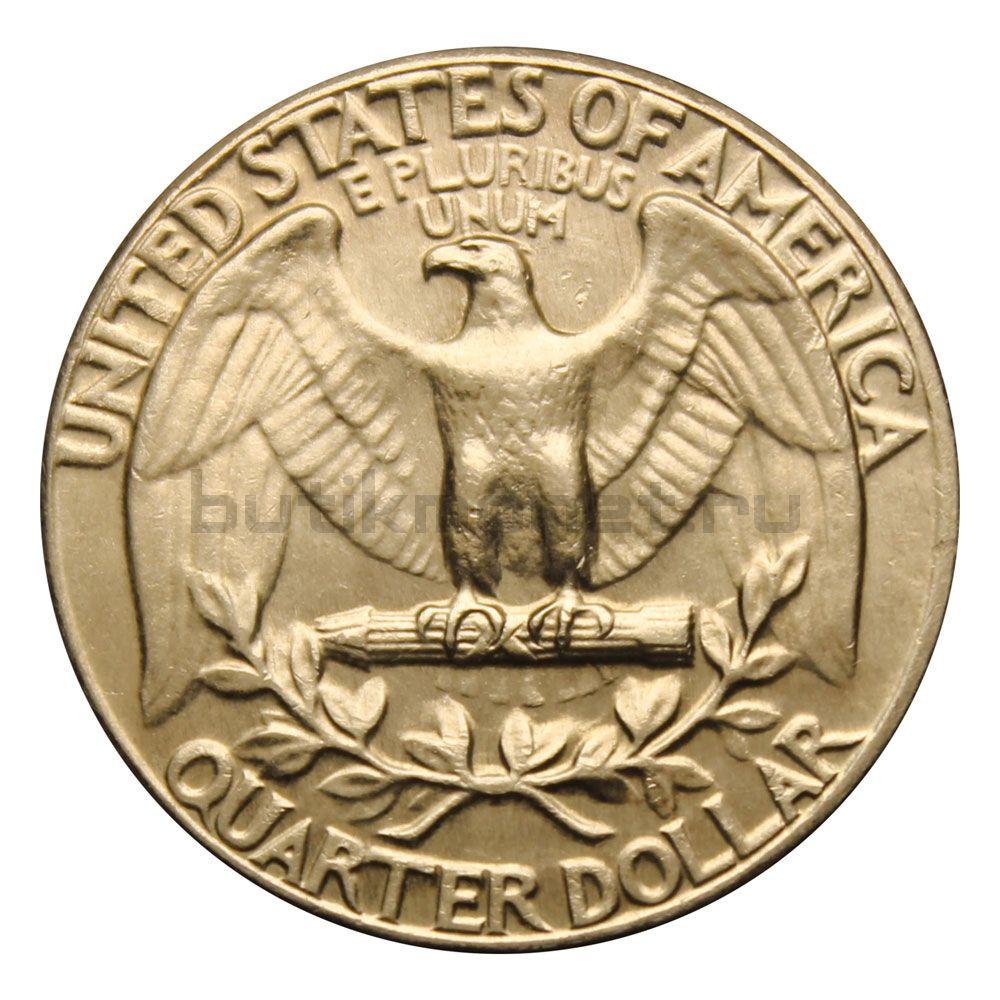 25 центов 1964 США Washington Quarter