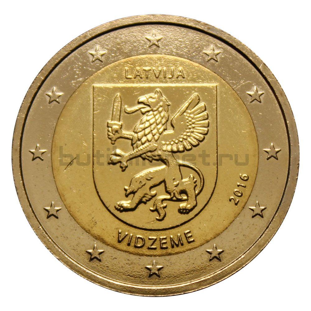 2 евро 2016 Латвия Исторические области Латвии - Видземе