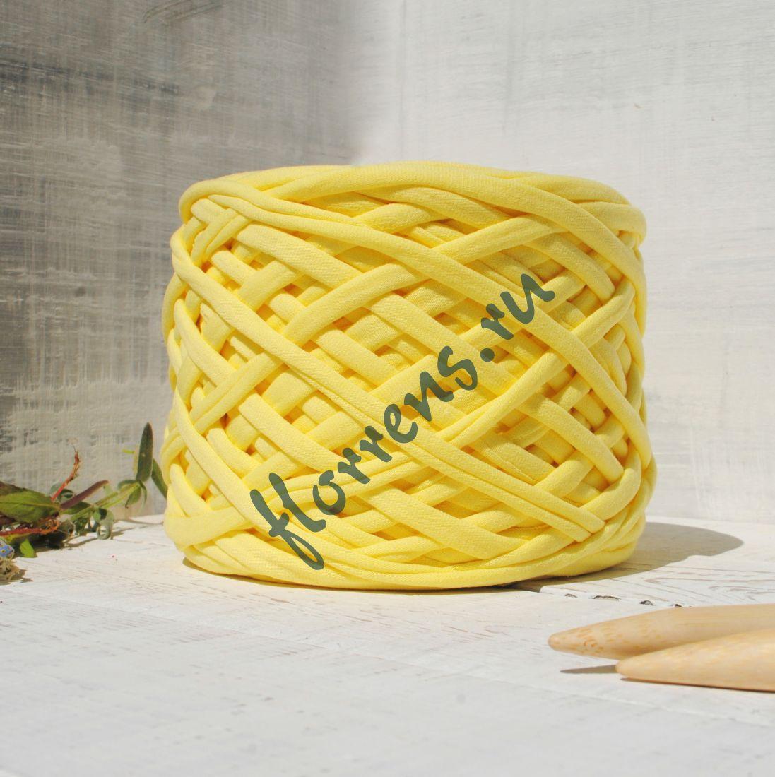Трикотажная пряжа / лимон