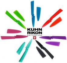 Нож малый Kuhn Rikon Colori гладкое лезвие (зелёный, голубой, красный чёрный, бирюзовый, розовый, фиолетовый)