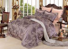 Комплект постельного белья Сатин-жаккард  Donna Mattina  (капучино) семейный Арт.593/4