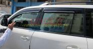 Дефлекторы окон (ветровики) с хром молдингом для Toyota Land Cruiser 200 / Lexus LX