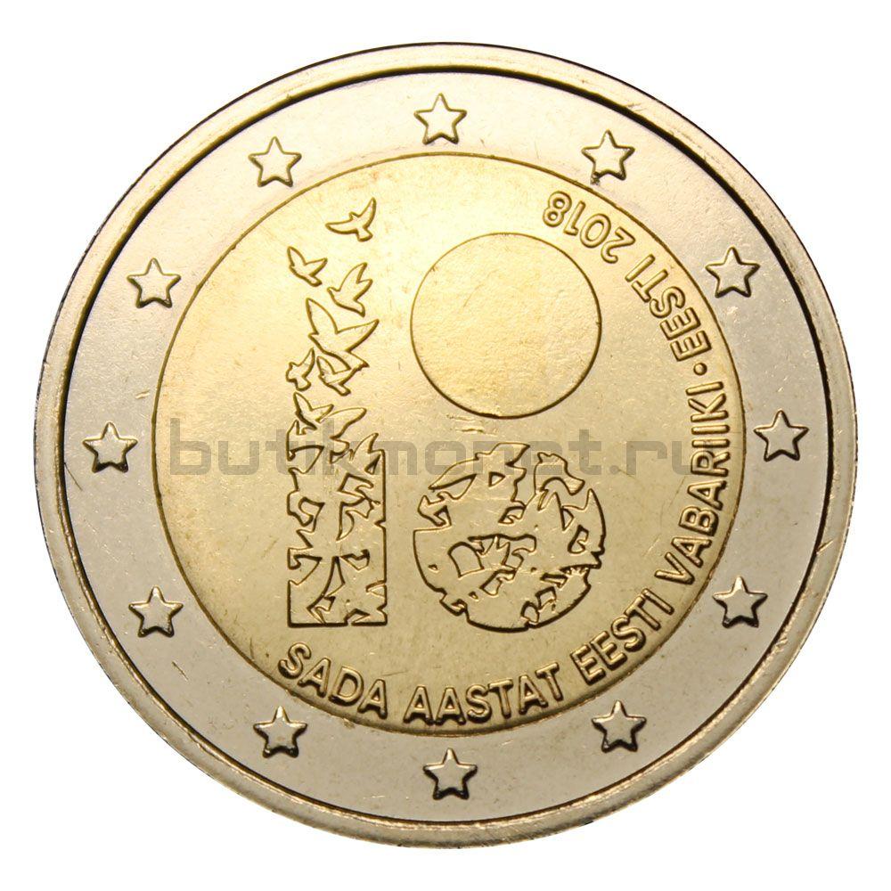 2 евро 2018 Эстония 100 лет Эстонии