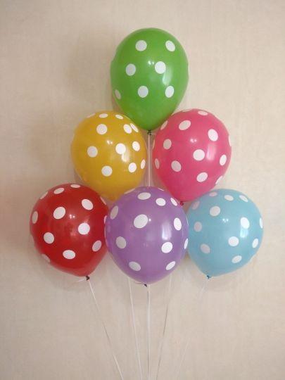 Горошек яркие латексные шары с гелием