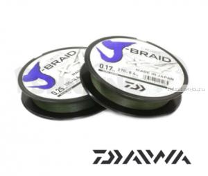 Шнур плетеный Daiwa J-Braid PE X4 270м /цвет: dark green