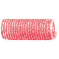 DEWAL Бигуди-липучки, розовые d 24 мм, 12 шт/уп, R-VTR7