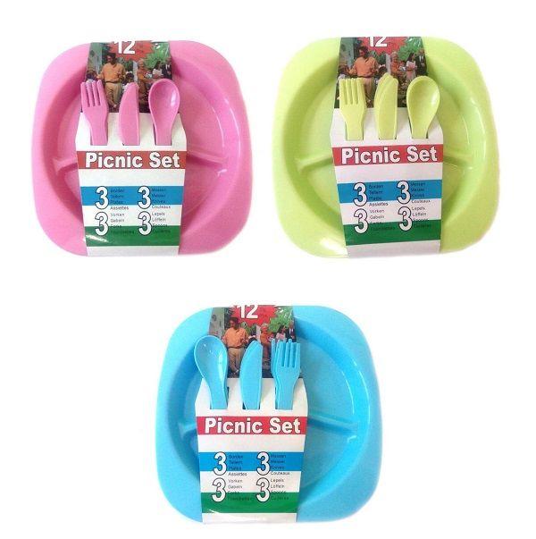 Набор посуды для пикника на 3 персоны PICNIC SET