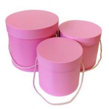 Набор коробок 3 в 1, Романтичный, розовый