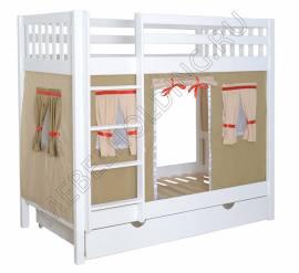 Двухъярусная игровая кровать Галчонок