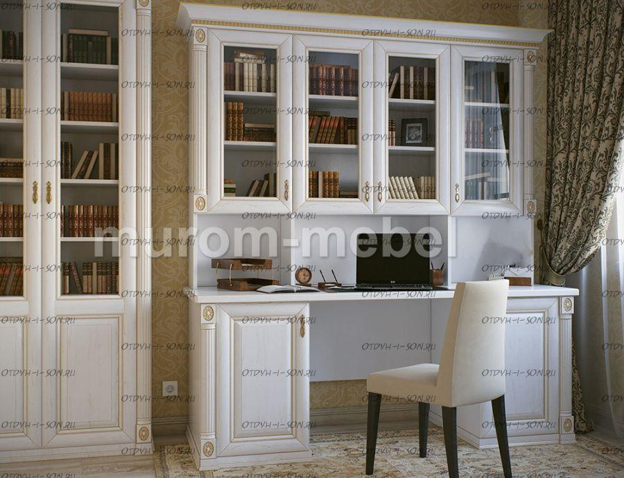 Стол письменный с надстройкой Пальма (195/205х72х229)