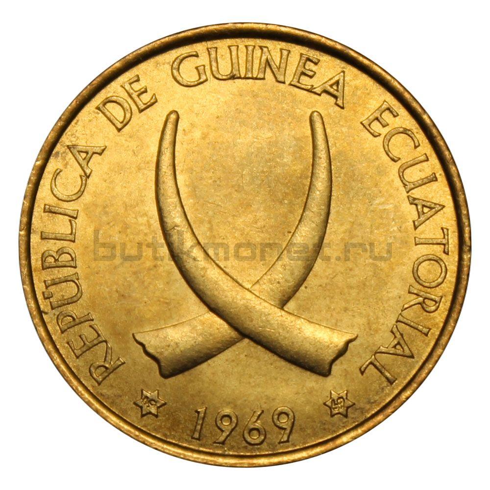 1 песета 1969 Экваториальная Гвинея