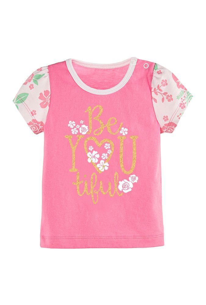 Розовая футболка для девочки 1 года Цвета