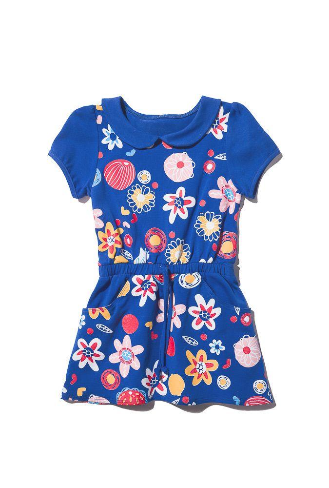 Синее платье для девочки 6 лет