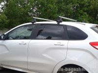 Багажник на крышу LADA XRay, Атлант, прямоугольные дуги