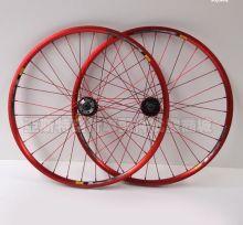 """Колесо велосипедное 26"""" переднее красное под диск с осью"""