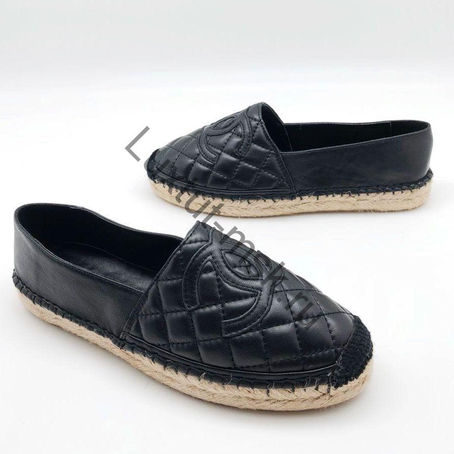 904e336ff9b6 Эспадрильи Chanel (Шанель) реплика кожаные купить в интернет магазине ...