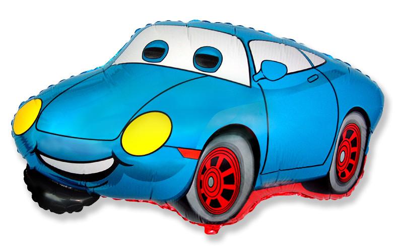 Машина синяя