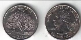 Четверть доллара США Коннектикут 1999