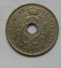 Монета БЕЛЬГИЯ 25 ЦЕНТОВ 1929 ГОД