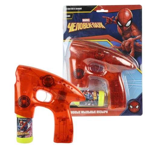 Пистолет для мыльных пузырей Marvel Человек Паук 1 TOY (свет, звук)